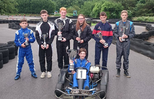 junior karting at castle combe